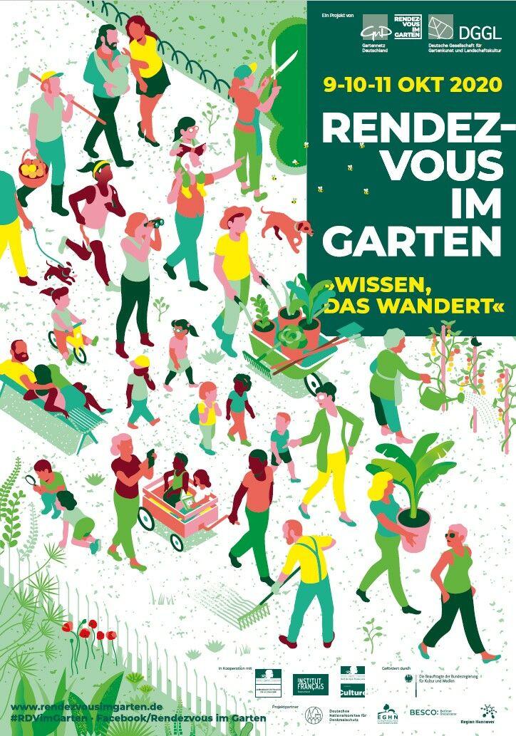 Plakat Rendezvous im Garten 2020